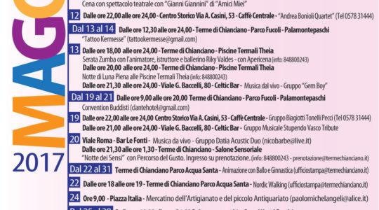 Eventi Maggio 2017 a Chianciano Terme