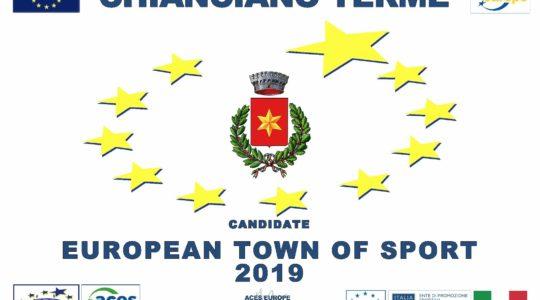 """Chianciano Terme candidato """"Comune Europeo dello Sport 2019"""""""