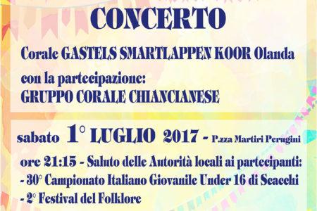2° Festival del Folklore – Giovedì 29 Giugno 2017 – Parco Acquasanta