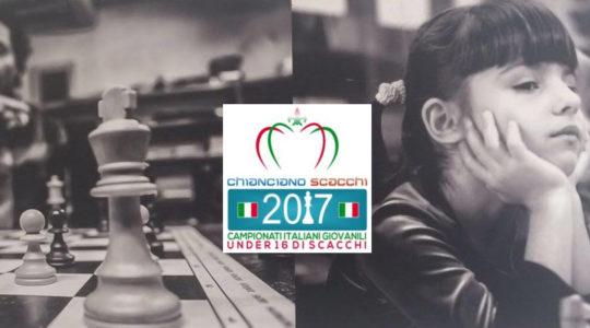 CAMPIONATO ITALIANO DI SCACCHI UNDER 16 - CHIANCIANO TERME   2/9 LUGLIO 2017