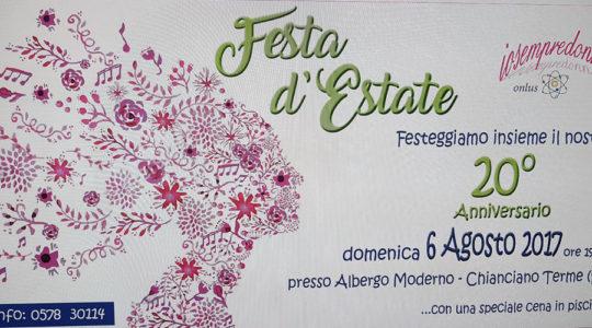Festa d'Estate - 20 Anniversario di Iosempredonna - Domenica 6 Agosto 2017
