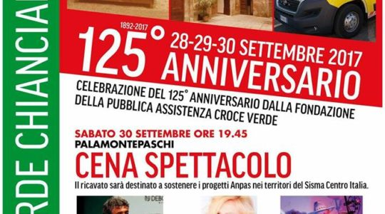 125° Anniversario Croce Verde Chianciano Terme - 28-29-30 Settembre 2017