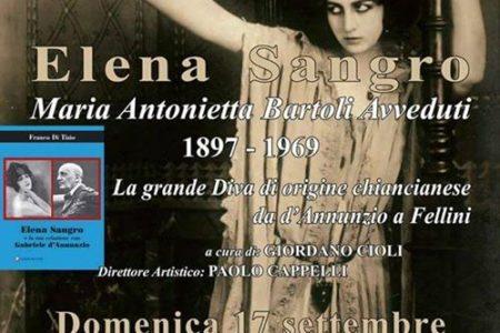 Festeggiamenti del 120° anno dalla nascita di Elena Sangro - Domenica 17 Settembre 2017