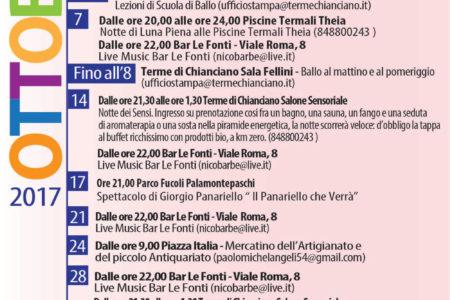 Programma Eventi Ottobre 2017 a Chianciano Terme