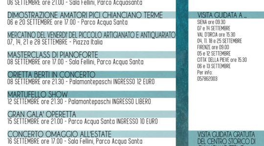 Eventi a Chianciano Terme - Settembre 2018