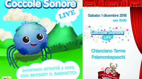 Coccole Sonore Live! Sabato 1 Dicembre 2018 ore 15.00 Palamontepaschi