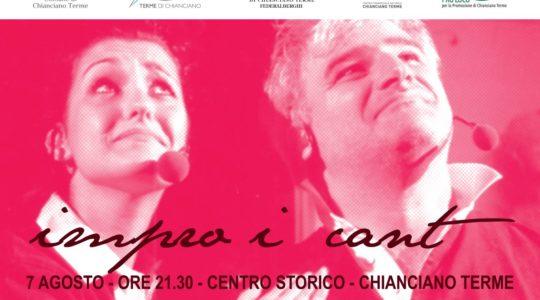7 agosto, Imprò I cant, spettacolo di improvvisazione teatrale a cura dell'associazione Voci e Progetti