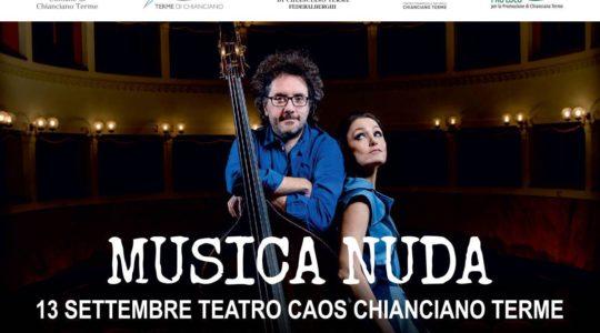 MUSICA NUDA al TEATRO CAOS - Venerdì 13 Settembre - ore 21:30