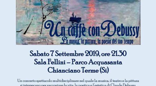 """Concerto Musica Classica """"Un caffè con Debussy"""" - Sabato 7 Settembre 2019"""